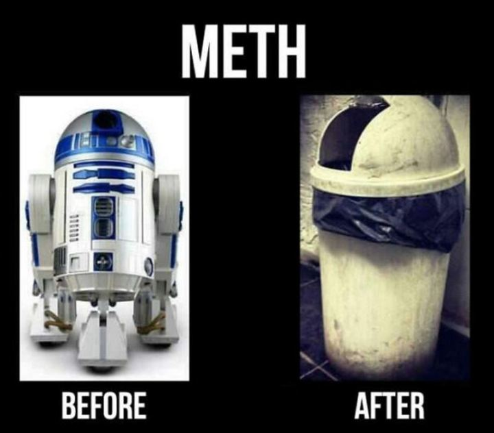 """61 Star Wars Memes - """"Meth: Before and after."""""""