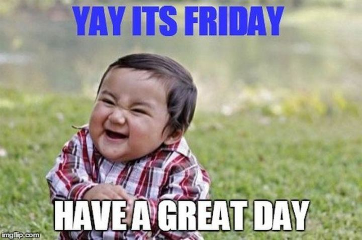 "101 ""Have a Great Day"" Memes - ""Yay, it's Friday. Have a great day."""