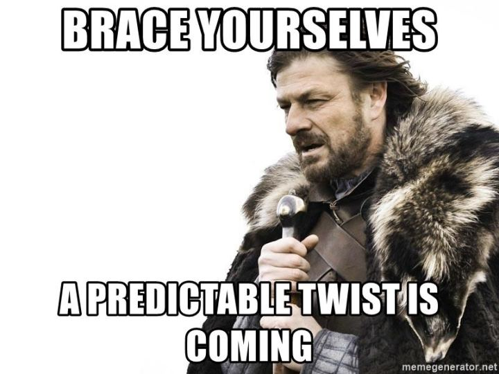 """73 Funny Reading Memes - """"Brace yourselves. A predictable twist is coming."""""""