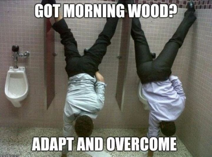 """Got morning wood? Adapt and overcome."""