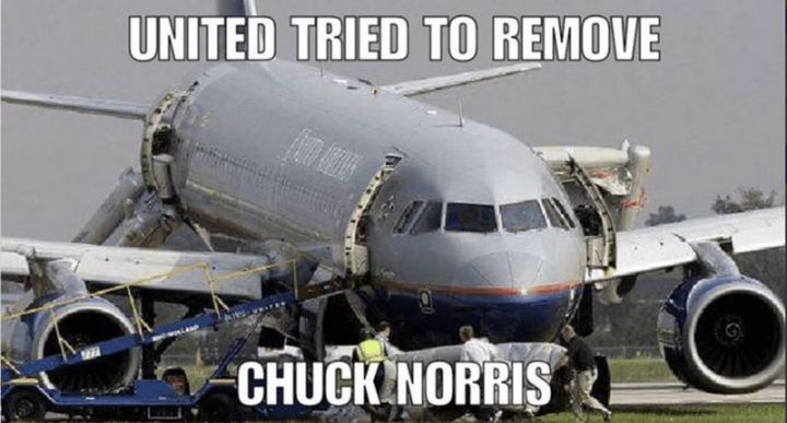 """United tried to remove Chuck Norris."""
