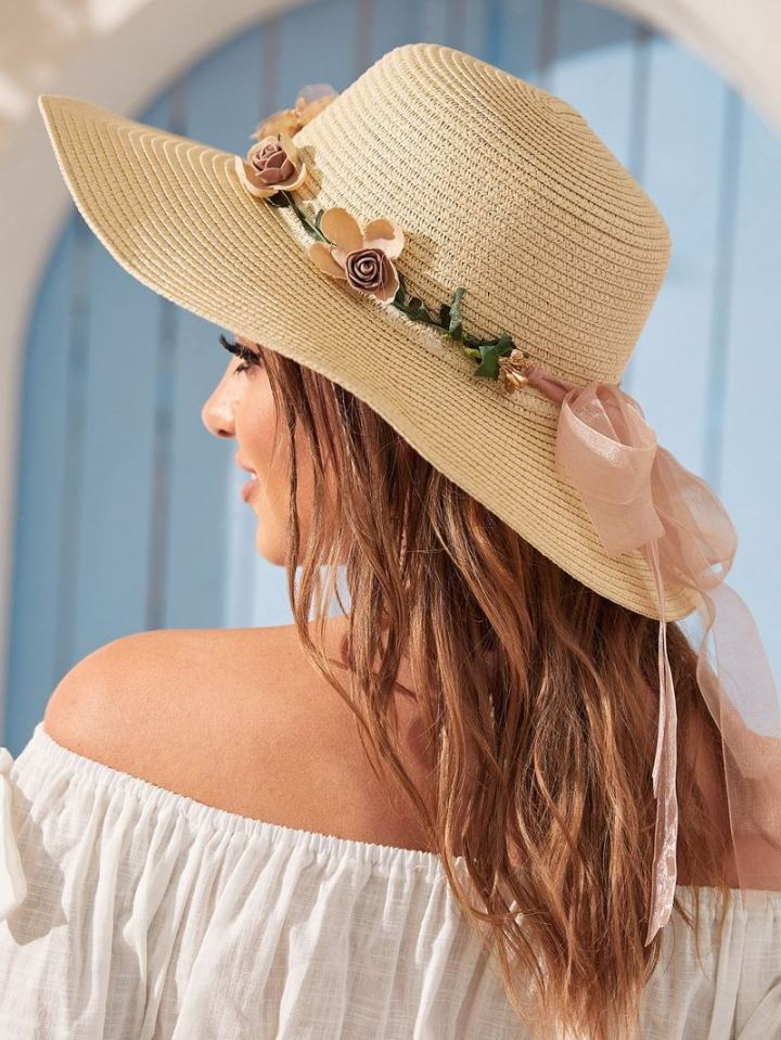 Go for hats like straw or felt hats.
