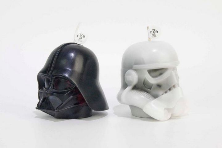 Darth Vader and Stormtrooper Candles.