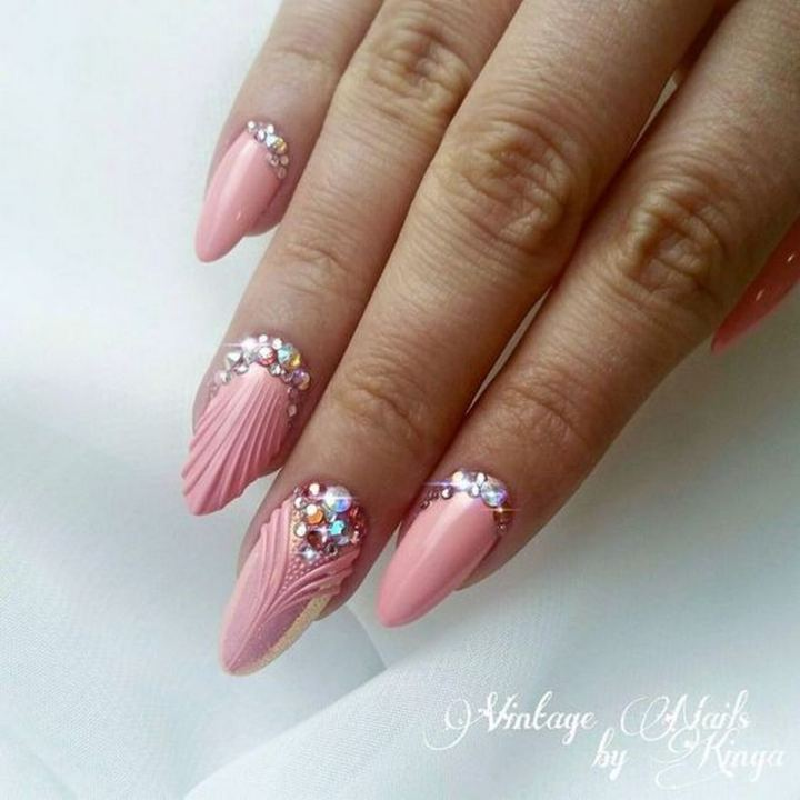 Vintage nails with bling!
