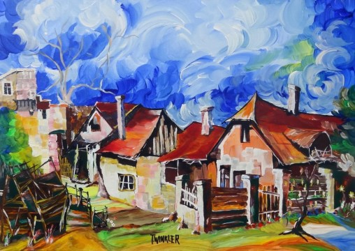 VILLAGE'S END | FALUVÉGE | 50X70 MIXTÉ