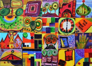 MOZAIK FROM HUNDERTWASSER | 65X90 MIXTÉ