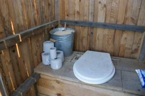 Inside outside toilet