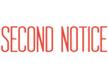1012 – SECOND NOTICE Stock Stamp