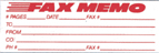3243 – FAX MEMO Jumbo One Color Stock Stamp