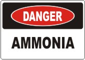 Danger Ammonia safety sign