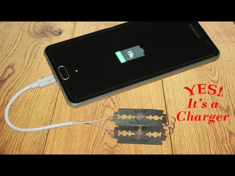 How To Charge Your Phone Using Razor Blades