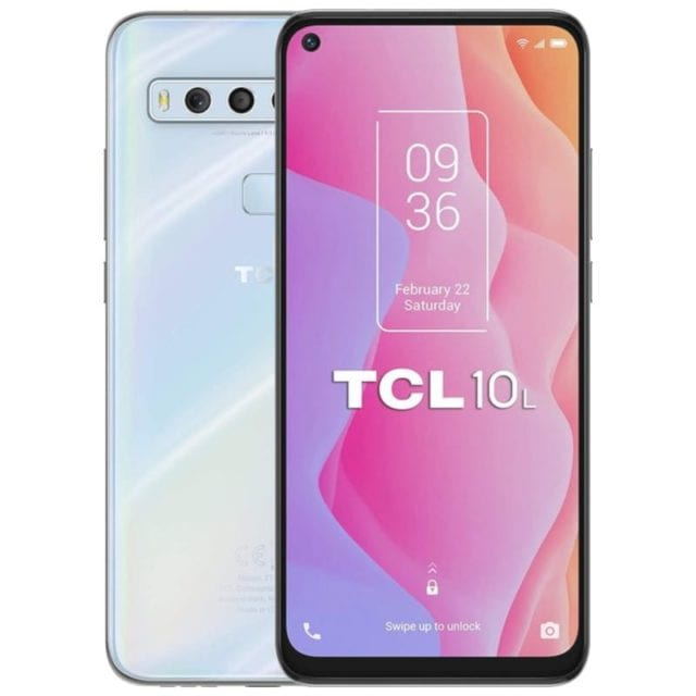 TCL 10L Full Phone Specifications, Price, and Best Deals.  It offers a 6.53-inch LCD LTPS FHD+ display with a punch hole at the top left for the selfie
