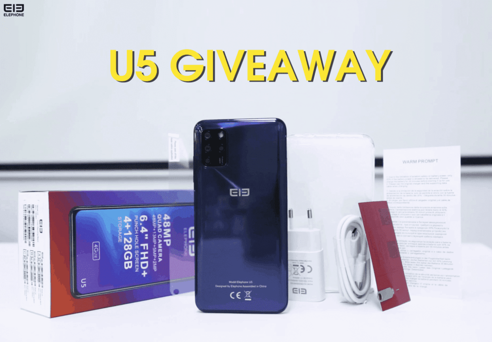 ELEPHONE U5 GIVEAWAY IS NEARLY OVER, HERE'S HOW TO ENTER IT