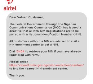 How To Link Airtel Sim With Nin And Prevent Your Line From Sim Blockage