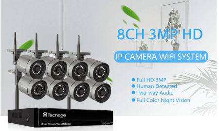 Techage 8CH 1080p HD Wireless CCTV Camera Security System Price, Specs, and Best Deals