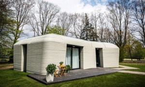 Move-in day at Europe's first 3D printed house