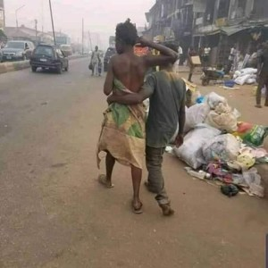 Valentine was celebrated across the country in numerous ways, and a mentally-challenged couple were spotted somewhere in Edo state.