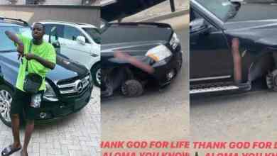 Photo of Aloma Davido's P.A Survives A Car Accident In Lagos (Watch Video)