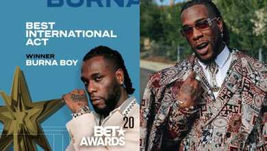 Photo of Burna Boy wins Best International Act at BET Awards 2020 (Watch video)