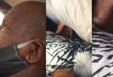 Photo of Elderly man caught red handed molesting a lady inside a moving bus (Video)