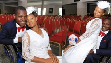 Photo of Physically-Challenged Man Tells Trolls Who Mocked His Bride