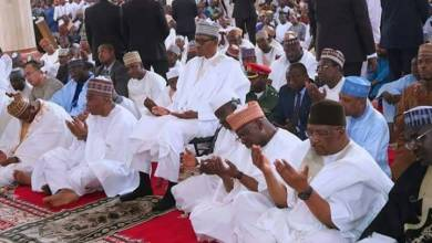 Photo of See Secret Reason why President Buhari always sits on a chair while Praying