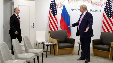 """Trump says Russia will 'get things done' if back in the G7. US President Donald Trump has dubbed Russia rejoining G7 """"common sense"""" – but the move was met with"""