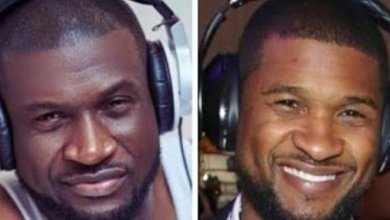 Photo of Peter Okoye questioned late dad over his resemblance with Usher (Photos)