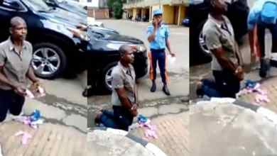 Photo of Man Arrested With Used Sanitary Pads In Lagos (Watch Video)