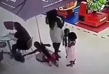 Photo of Little girl caught on camera stealing a lady's bag (Watch Video)