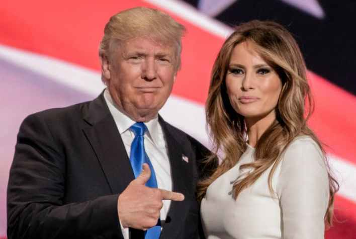 U.S. President Donald Trump and first lady Melania Trump take part in the 17th annual September 11 observance at the Flight 93 National Memorial near Shanksville in Stoystown, Pennsylvania.REUTERS