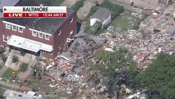 TWO DEAD AND SEVEN OTHERS INJURED IN BALTIMORE EXPLOSION.