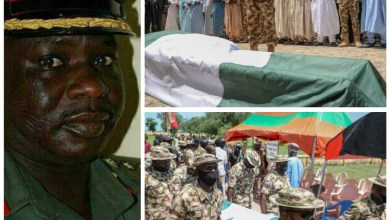 Photo of Army commander killed in Boko Haram ambush laid to rest.