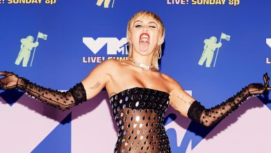 Photo of Miley Cyrus stuns in sheer catsuit for iHeart Radio Festival 2020.