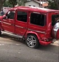 Photo of A MAN Bashes A G-Wagon he rented to impress a girl