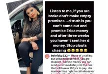 Photo of Bobrisky: Erica's management has every right to call out anyone that hasn't fulfilled their promises to her