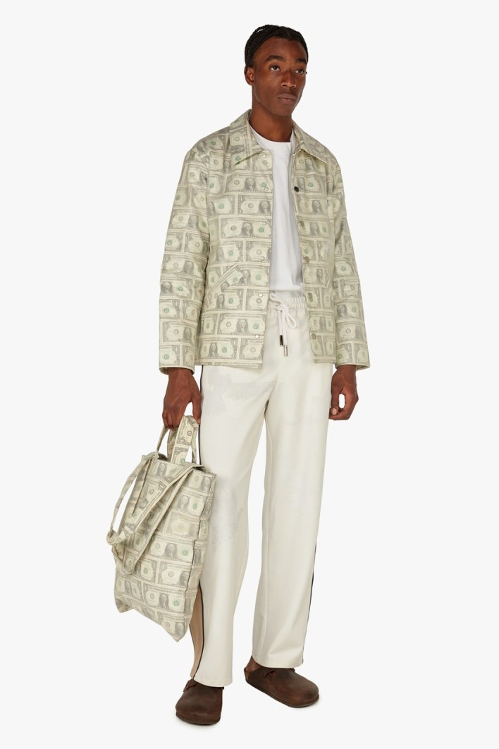 3.PARADIS Uses Real $1 USD Bills To Craft $3,990 USD Solo Dollars Coach Jacket.   Emeric Tchatchoua's progressive label 3.PARADIS transcends art, fashion