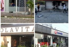 Photo of Hoodlums vandalise and loot shops on Lekki phase 1 after the shooting at Lekki tollgate
