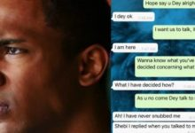 Photo of Man shares chat with girlfriend who begged to meet his mother, after three weeks of dating