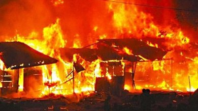 Photo of JUST IN: Woman, baby, shops burnt in Rivers fire