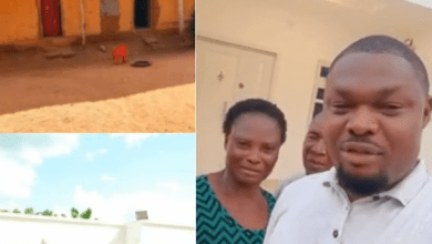 Activist Harrison Gwamnishu relocates his parents from a mud house to a modern one; thanks them for their support while he was in prison for 4 years