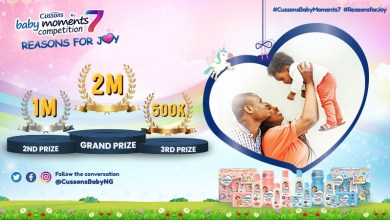 2 million naira grand prize at stake in the Cussons Baby Moments 7 Competition!