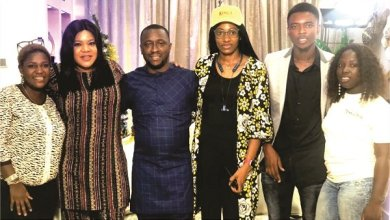 Toyin Abraham, Laycon, Tuface dine with fans
