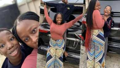 Emmanuella flunts her brand new car as she wishes fans happy new year