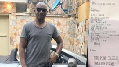 Governor Fayose's brother flaunts N500K seed to Pastor Fatoyinbo's church