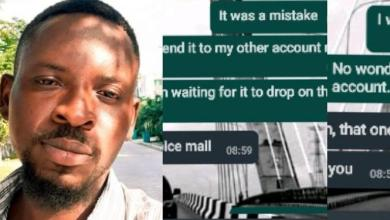 Man shares his father's reply after he mistakenly sent money to his account