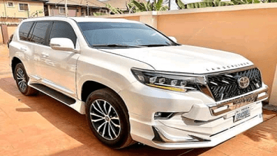 Nollywood actress shows off new Prado
