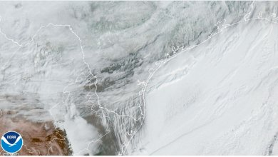 Texas is frozen, this is how it looks from space