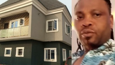 """Tap from my grace and stop hating"" - African China says as he shows off his newly-completed house (photos/videos)"