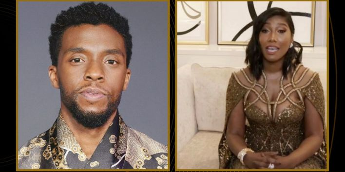 Chadwick Boseman's Wife Cries While Accepting Best Actor Golden Globe Award